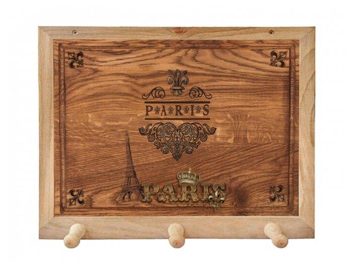 Вешалка Gift'n'Home для полотенец Винтажный Париж 3 крючка