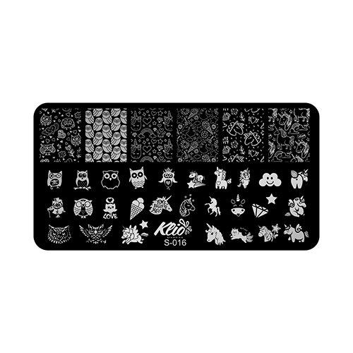 Купить Трафарет KLIO Professional №16 13 х 7 см black