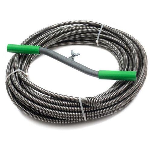 Сантехнический трос 15 м Spex STU-SB-10-15 зеленый/серый