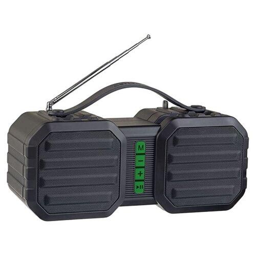Портативная акустика Perfeo STAND черный/зеленый  - купить со скидкой