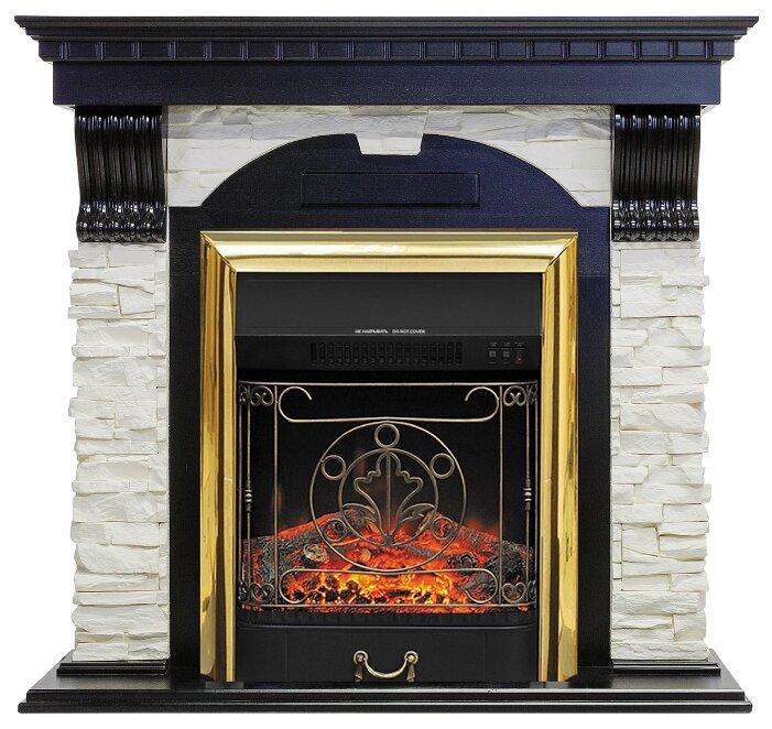 Электрический камин Royal Flame Majestic BR (венге) + Dublin арочный сланец белый
