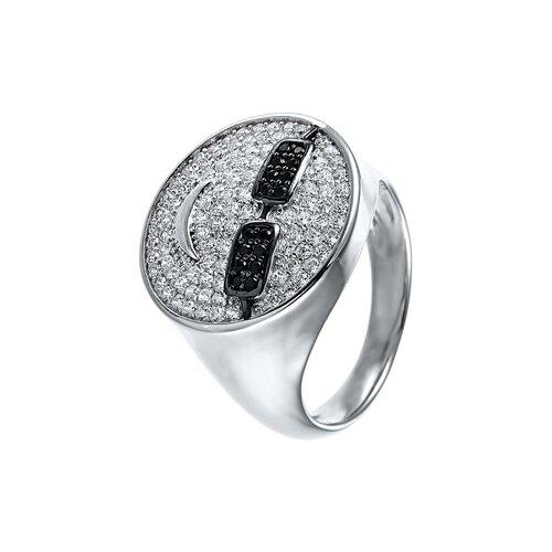 JV Кольцо с фианитами из серебра SR28025-KO-001-WG, размер 17 jv кольцо с фианитами из серебра r150424d ko 001 wg размер 17