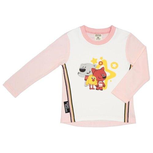 Лонгслив lucky child Ми-ми-мишки размер 28 (92-98), светло-розовый худи lucky child размер 28 92 98 фиолетовый