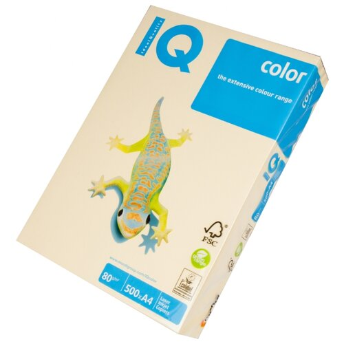 Фото - Бумага IQ Color A4 80 г/м² 500 лист. кремовый CR20 1 шт. бумага iq color а4 color 120 г м2 250 лист кораллово красный co44 1 шт