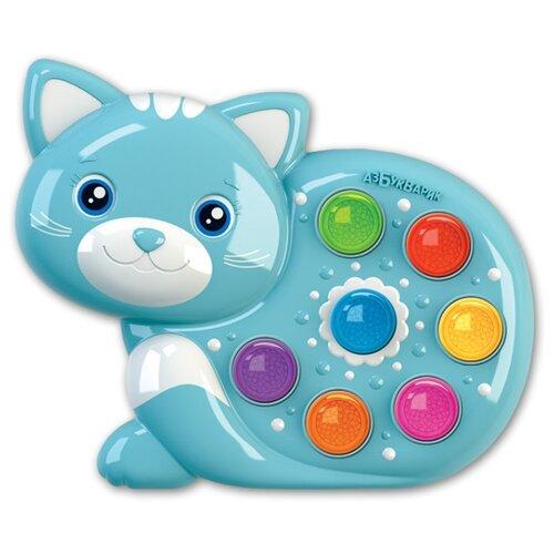 Купить Интерактивная развивающая игрушка Азбукварик Веселушки Котенок голубой, Развивающие игрушки