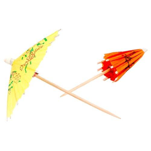 Paterra Пики декоративные одноразовые бумажные Зонтики (30 шт.) разноцветные