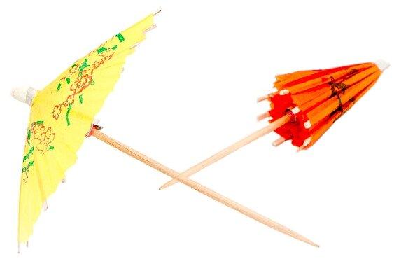 Paterra Пики декоративные одноразовые бумажные Зонтики (30 шт.)