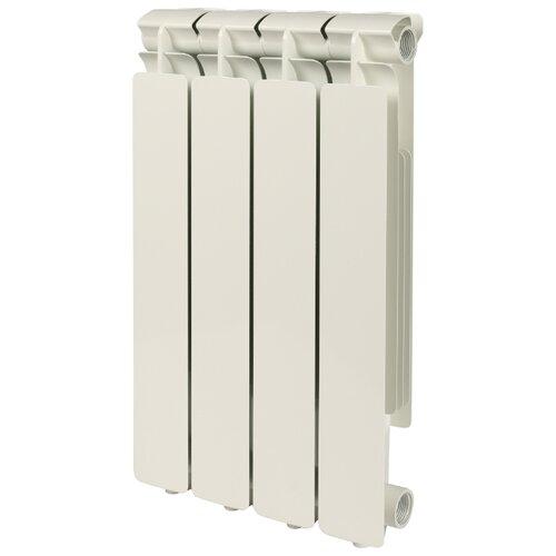 Радиатор секционный алюминий STOUT Bravo 500 x4 подключение универсальное боковое RAL 9010 биметаллический радиатор rifar рифар b 500 нп 10 сек лев кол во секций 10 мощность вт 2040 подключение левое