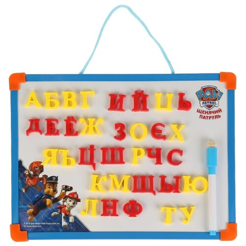 Купить Доска для рисования детская Играем вместе Щенячий патруль с русскими буквами (L787-H27560-PP) голубой, Доски и мольберты