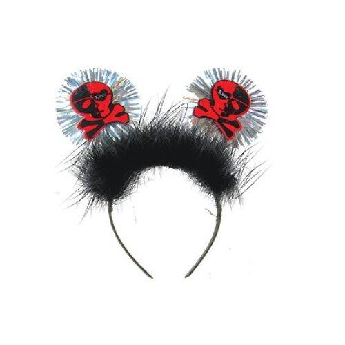 Купить Ободок Marko Ferenzo Череп (45492), черный/красный, Карнавальные костюмы