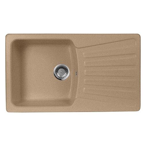 Фото - Врезная кухонная мойка 85 см А-Гранит M-12 песочный врезная кухонная мойка 61 см а гранит m 09 песочный