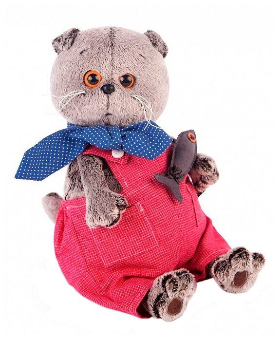 Мягкая игрушка Basik&Co Кот Басик в красном комбинезоне 30 см