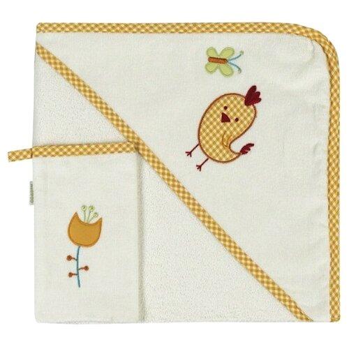 Фото - Kidboo Комплект полотенце-уголок+варежка Цыпленок банное 75х75 см желтый полотенце уголок fiorellino premium baby фиореллино премиум беби 90 90см варежка белый