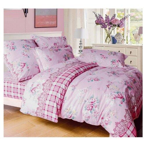 Постельное белье 1.5-спальное СайлиД A-172, поплин, 70 х 70 см розовый
