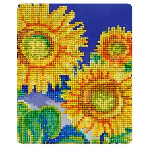 Купить Color Kit Набор алмазной вышивки Подсолнухи (M020) 17х21 см, Алмазная вышивка