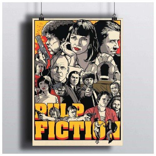 Постер Криминальное Чтиво 50х70 см.В Рамке