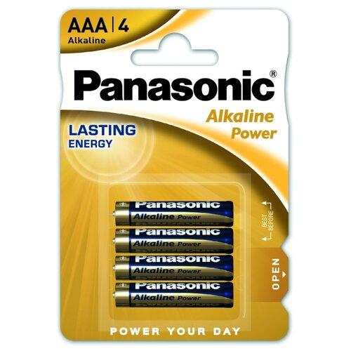 Батарейка Panasonic Alkaline Power AAA/LR03 4 шт блистер