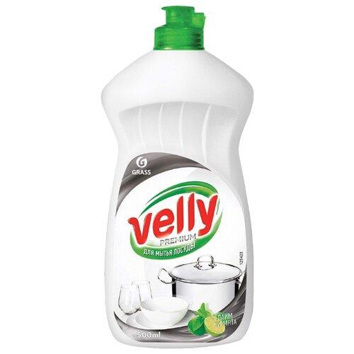 GraSS Средство для мытья посуды Velly Premium Лайм и мята 0.5 л