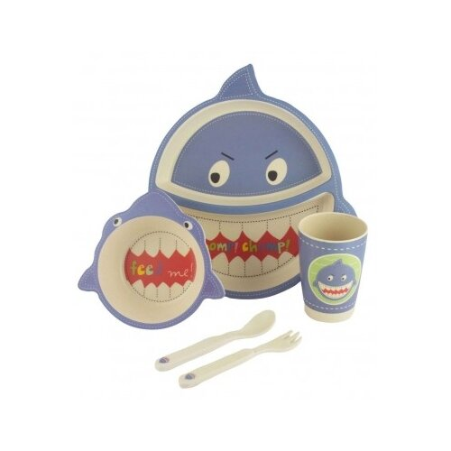 Комплект посуды Baby Ryan Акула (BF022-6) синий