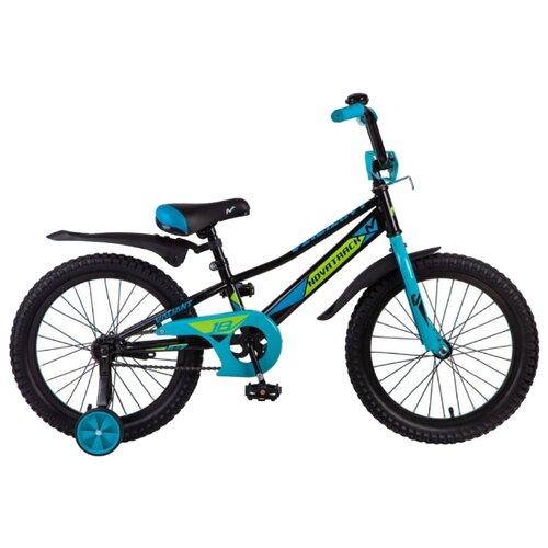 цена на Детский велосипед Novatrack Valiant 18 (2019) черный (требует финальной сборки)