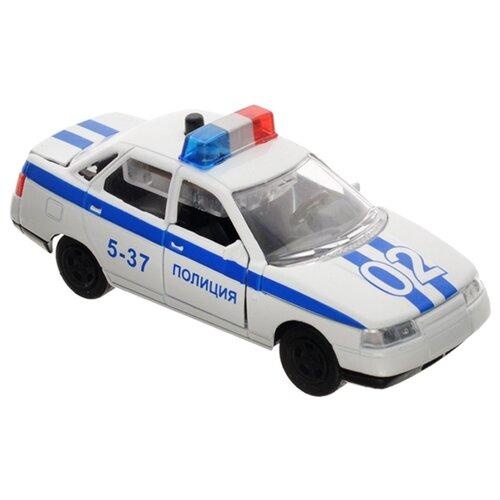 Купить Легковой автомобиль ТЕХНОПАРК Lada 110 (CT10-110-2) 1:43 белый, Машинки и техника