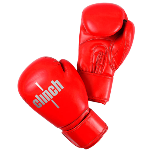 Боксерские перчатки Clinch Olimp plus красный 12 ozБоксерские<br>