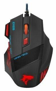 Мышь EXEQ MM-503 Black-Red USB