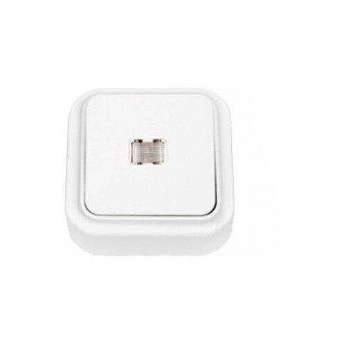 Выключатель 1-полюсныйвыключатель / переключатель BYLECTRICA Пралеска А110-214,10А, белыйРозетки, выключатели и рамки<br>