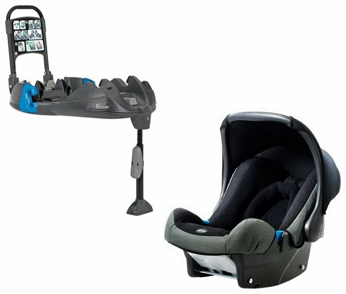 Автокресло группа 0+ (до 13 кг) Romer Baby-Safe Felix + Belted Base