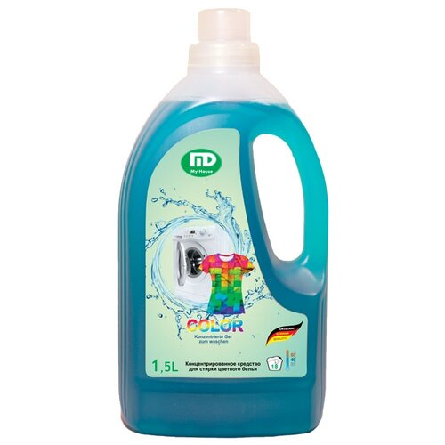 Гель для стирки Мой дом для цветного белья 1.5 л бутылкаГели и жидкости для стирки<br>