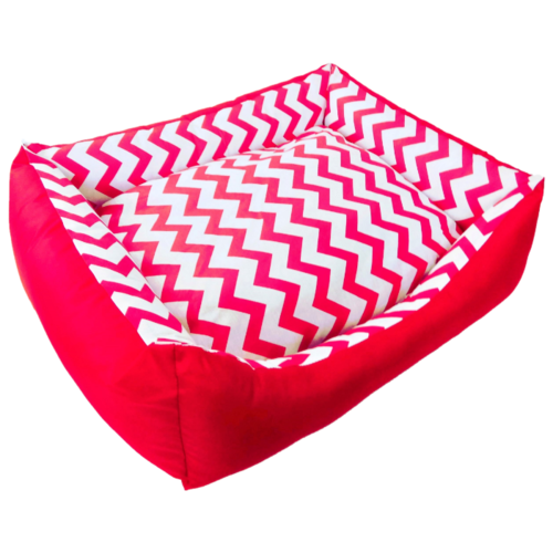 Лежак для собак и кошек LOORI Зигзаг 55х45х15 см красный