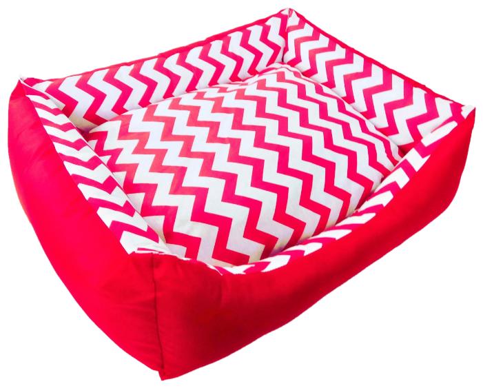 Лежак для кошек, для собак LOORI Зигзаг Z0371 55х45х15 см красный