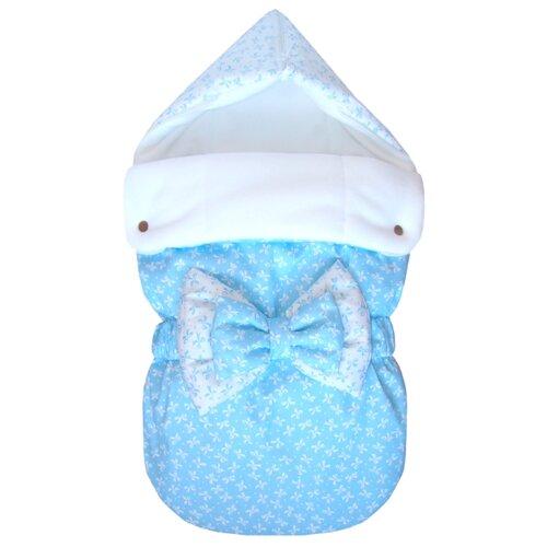 Купить Конверт-мешок СуперМаМкет JustCute демисезонный с бантом 68 см ромео/голубой, Конверты и спальные мешки
