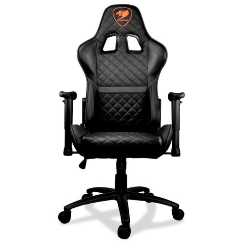 Компьютерное кресло COUGAR Armor ONE игровое, обивка: искусственная кожа, цвет: черный кресло компьютерное игровое cougar armor s b черный