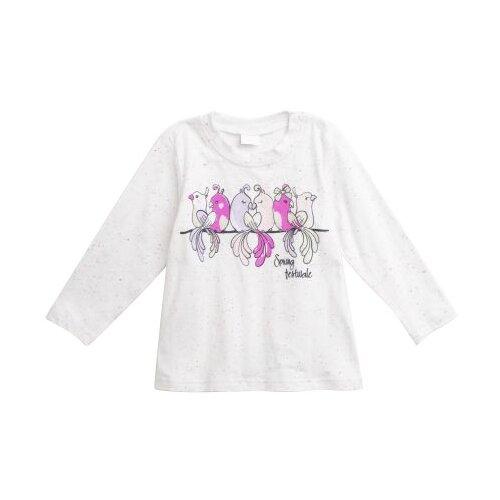 Лонгслив playToday размер 86, белый/розовый лонгслив playtoday розовый 86 размер