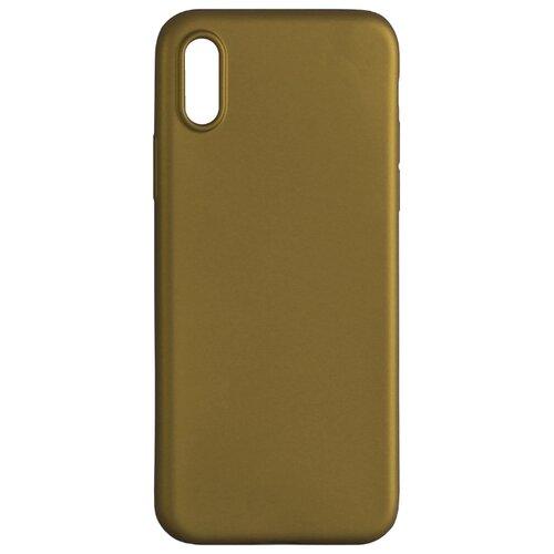 Чехол Volare Rosso Soft-touch для Apple iPhone X (пластик) золотой