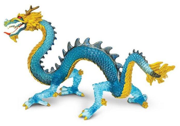 Фигурка Safari Ltd Кристаллический голубой дракон 10175