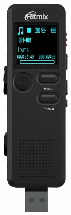 Диктофон RITMIX RR-610 8 Gb, черный [15118899]