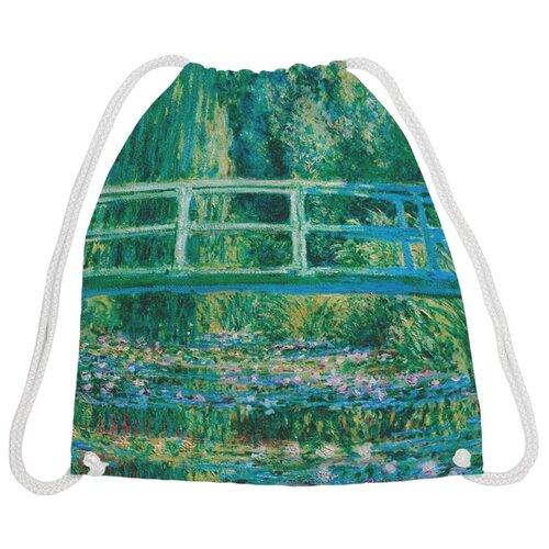 Купить JoyArty Рюкзак-мешок Пруд с кувшинками (bpa_3412) зеленый, Мешки для обуви и формы