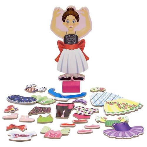 Купить Игровой набор Melissa & Doug Nina Ballerina Magnetic Dress-Up Set 3554, Игровые наборы и фигурки