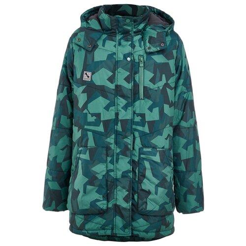 Купить Куртка Button Blue 219BBBC45024813 размер 104, зеленый, Куртки и пуховики