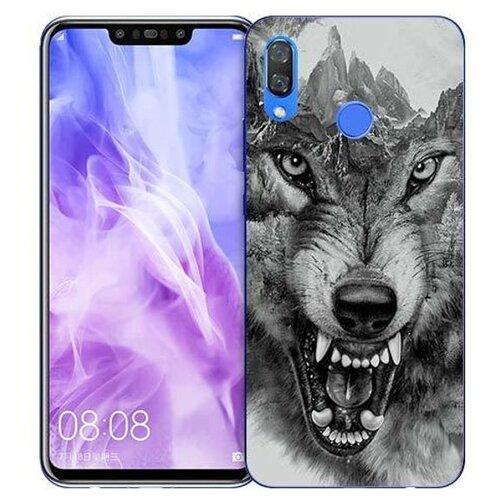 Купить Чехол Gosso 725760 для Huawei Nova 3 волк в горах