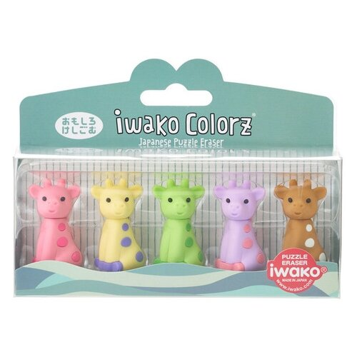 IWAKO Набор ластиков Colorz Giraffe ассорти