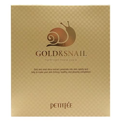 Petitfee Гидрогелевая маска для лица с золотом и экстрактом слизи улитки, 30 г, 5 шт. гидрогелевая маска золото и экстракт улитки