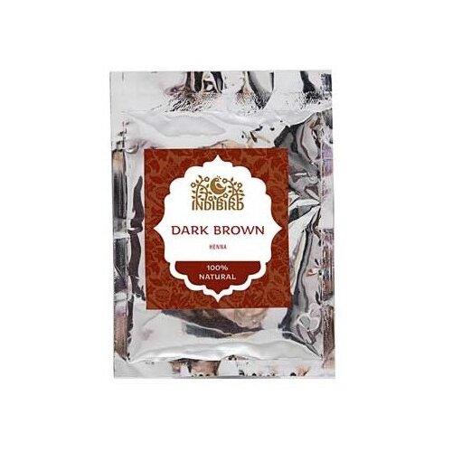 Хна Indibird тёмно-коричневая, 50 г хна для волос натуральная черная indibird 50 г