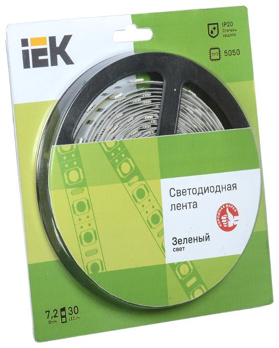 Светодиодная лента IEK LED LSR-5050G30-7.2-IP20-12V 5 м