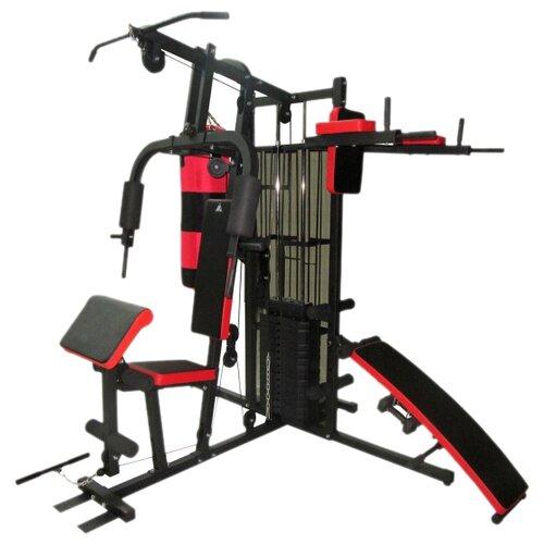 Многофункциональный тренажер DFC D7005 красный/черный тренажер многофункциональный royal fitness bench 1520