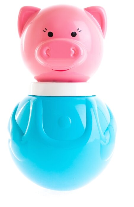 Неваляшка Пластмастер Поросенок Хрюндик (11316) 16.5 см голубой/розовый