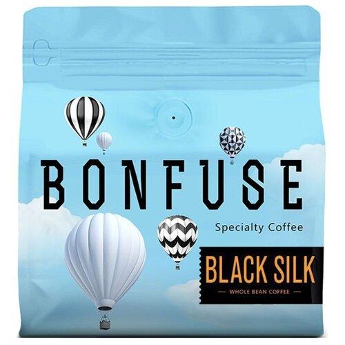 Кофе в зернах Bonfuse Black Silk, арабика/робуста, 250 г кофе в зернах bonfuse asia арабика 250 г