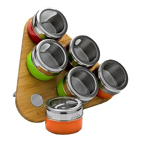 MAYER & BOCH Набор для специй 23521 бамбук/серебристый/зеленый/оранжевый/красный